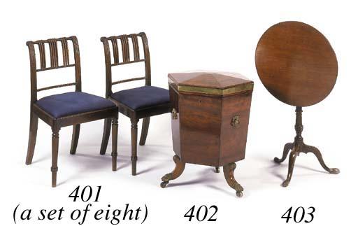 A set of eight Regency mahogan