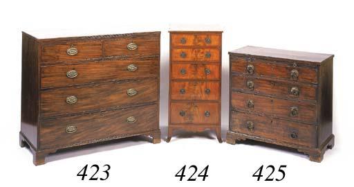 A mahogany upright chest