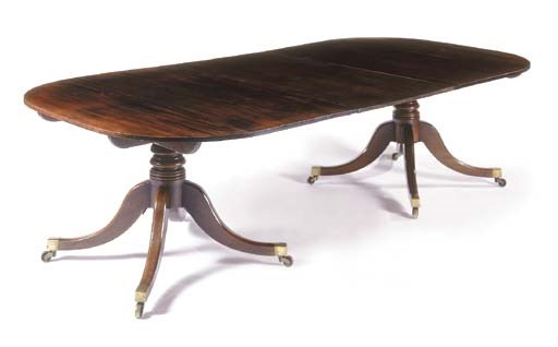 A Regency mahogany twin-pedest