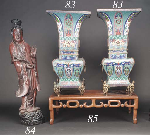 A large pair of Chinese rectan