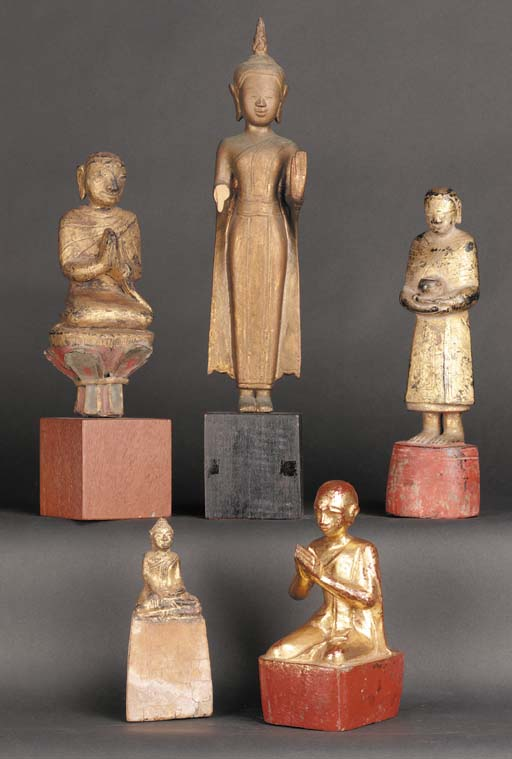 A Burmese lacquered and gilt w