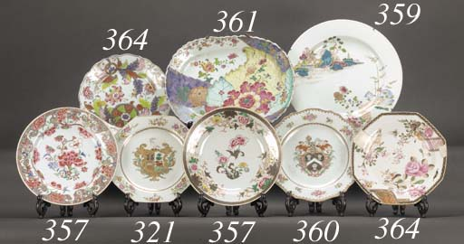 A famille rose dish 18th centu