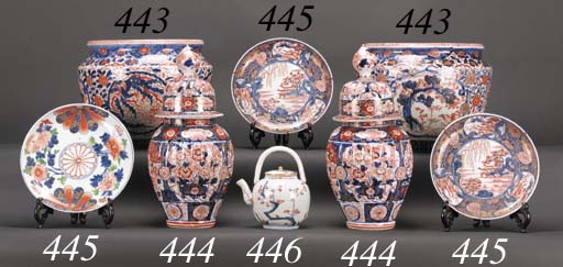 An Imari teapot and cover Circ