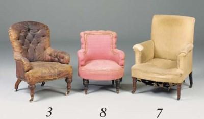 A Victorian walnut low chair