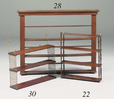 A set of Regency four tiered m