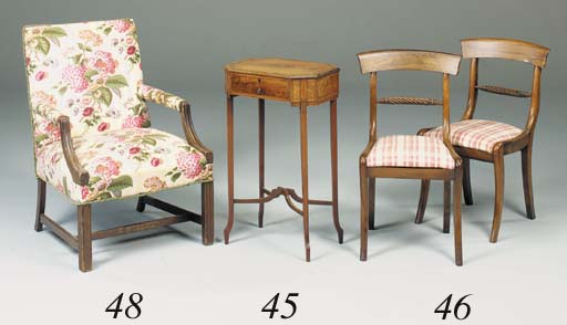 A set of six Regency roseweood dining chairs