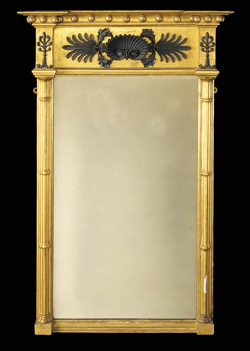 A Regency gilt composition pier mirror