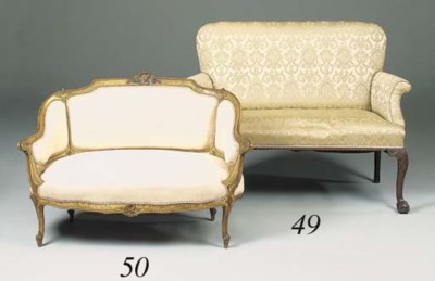A French giltwood sofa, late 1