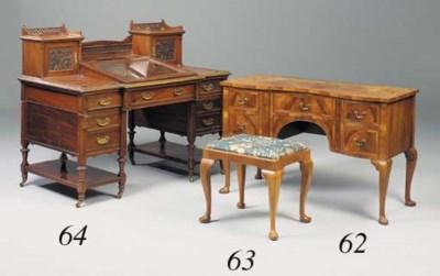 A walnut stool, early 20th cen