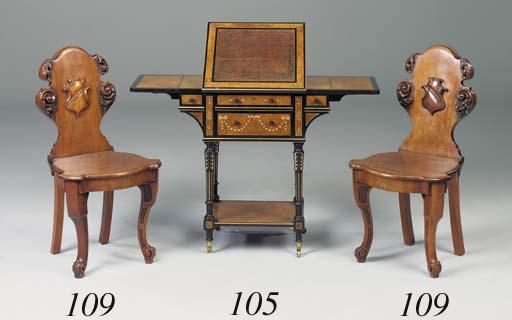 A pair of Victorian mahogany h