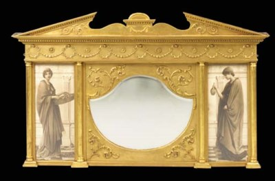 A gilt mirror, 19th century