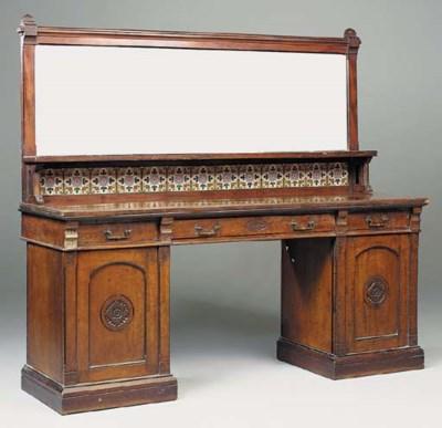 A Victorian mahogany and eboni