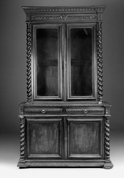 A late Victorian mahogany book