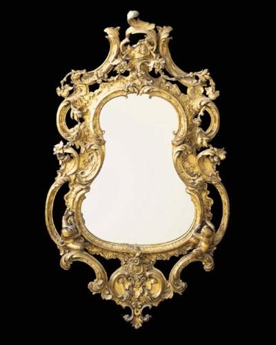 A Victorian giltwood mirror