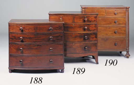 A George IV mahogany chest