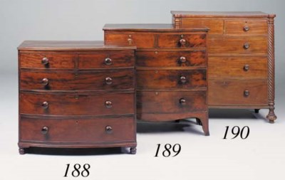 A George IV mahogany chest