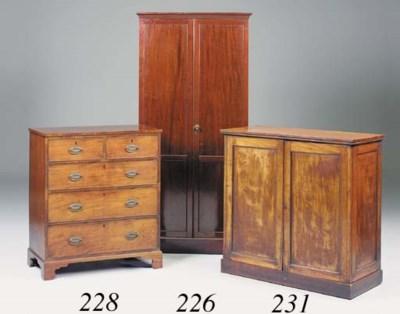 A mahogany wardrobe, late 19th