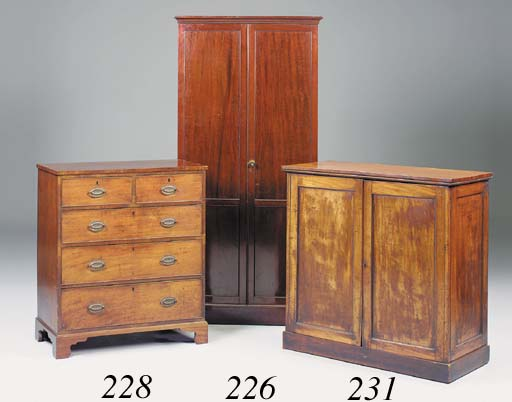 A mahogany chest, early 19th c