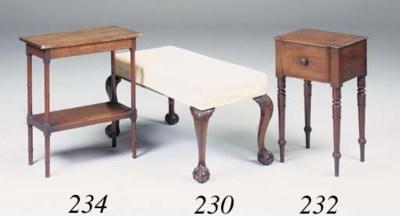 A mahogany rectangular stool,