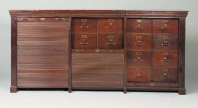 A late Victorian mahogany fili
