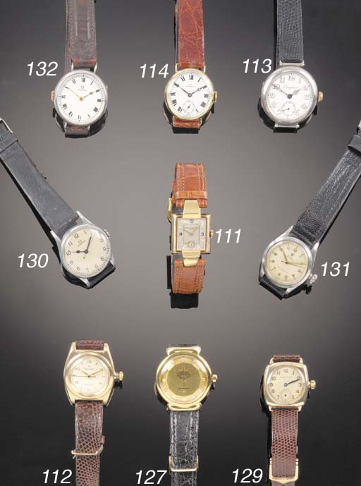 ROLEX, A 9ct. GOLD CUSHION FOR