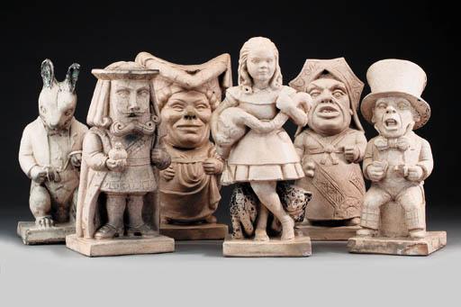 A set of six glazed stoneware