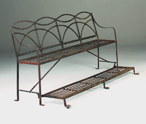A wrought iron games seat, pro