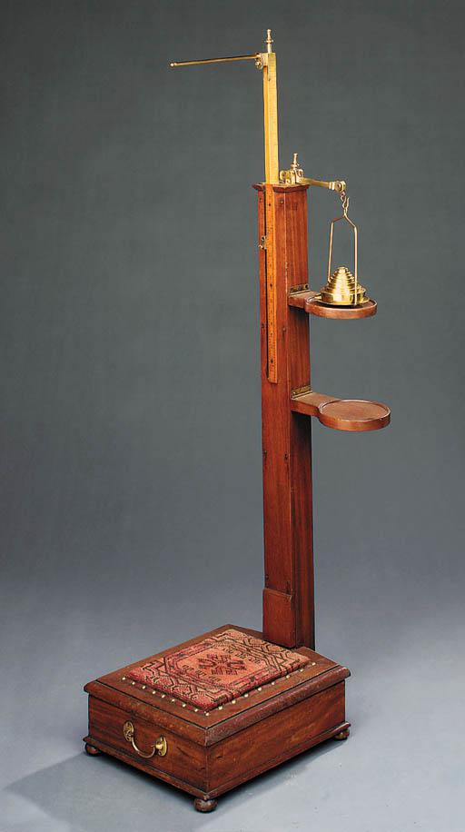 An Edwardian brass mounted mah