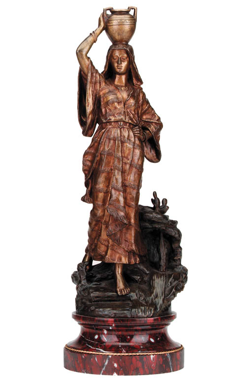 A French bronze figure of a wa