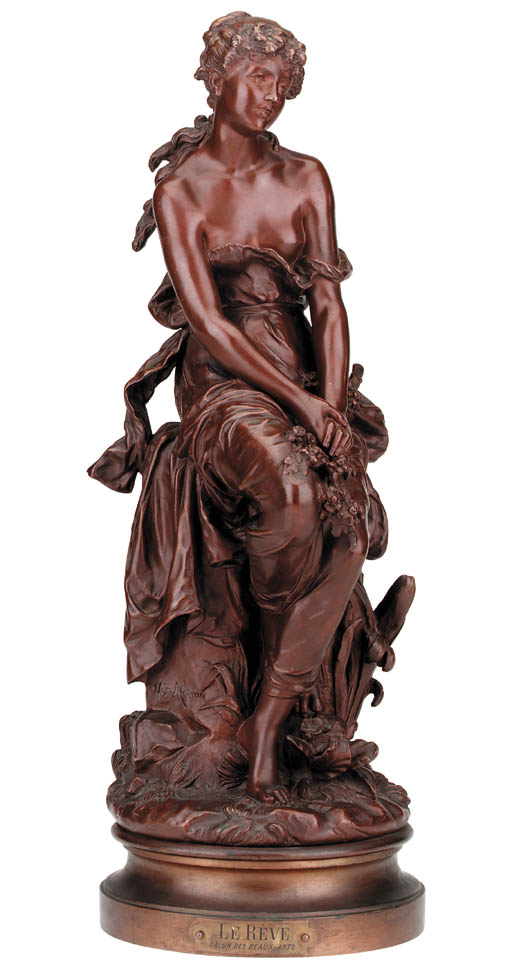 A French bronze model of a gir