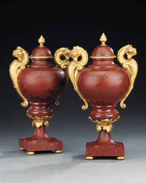 A pair of ormolu mounted rouge