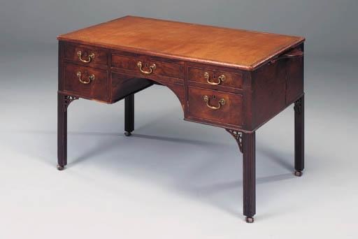 A George III mahogany kneehole