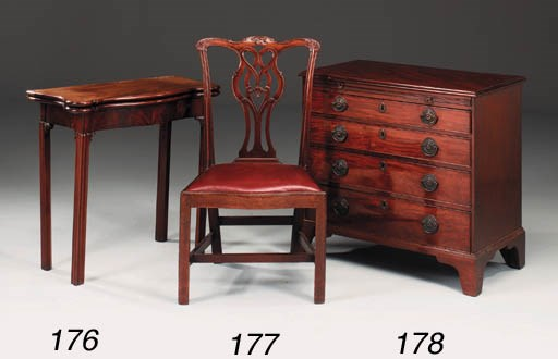 A George III carved mahogany d