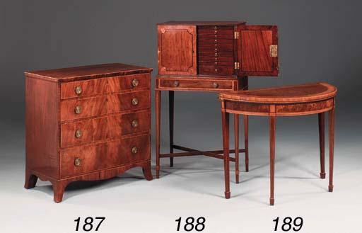 A George III mahogany burr-wal