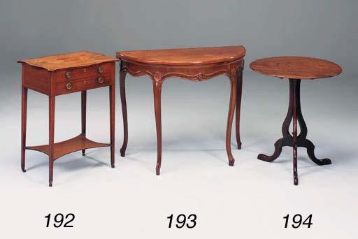 A George III carved mahogany a