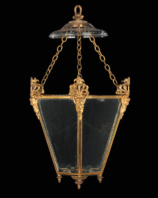 A Regency gilt bronze hexagona