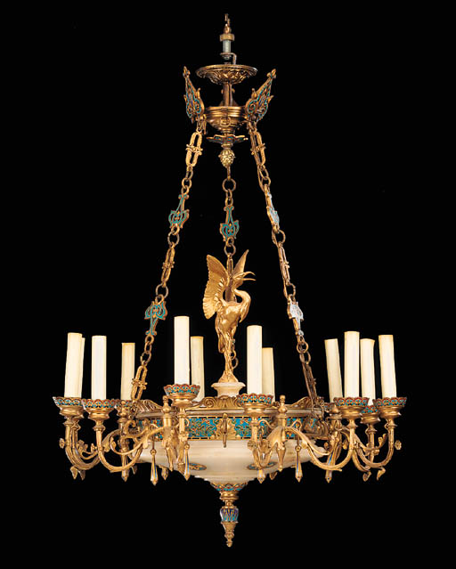 A French champlevé enamel and
