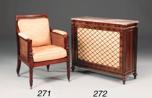 A Regency mahogany library ber
