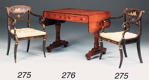 A Regency simulated rosewood,
