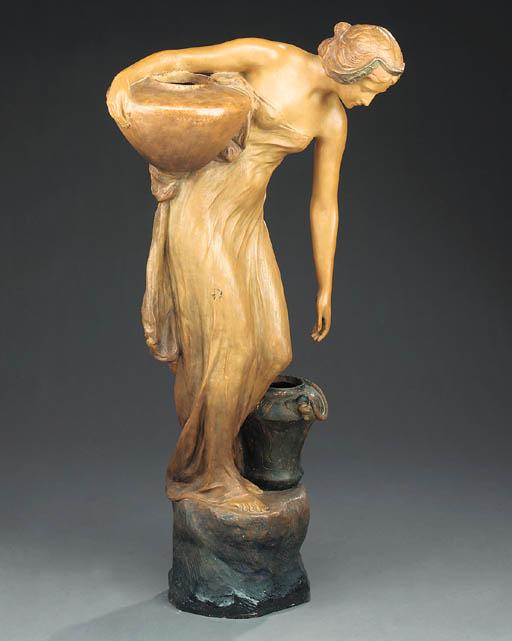 An Art Nouveau terracotta figu