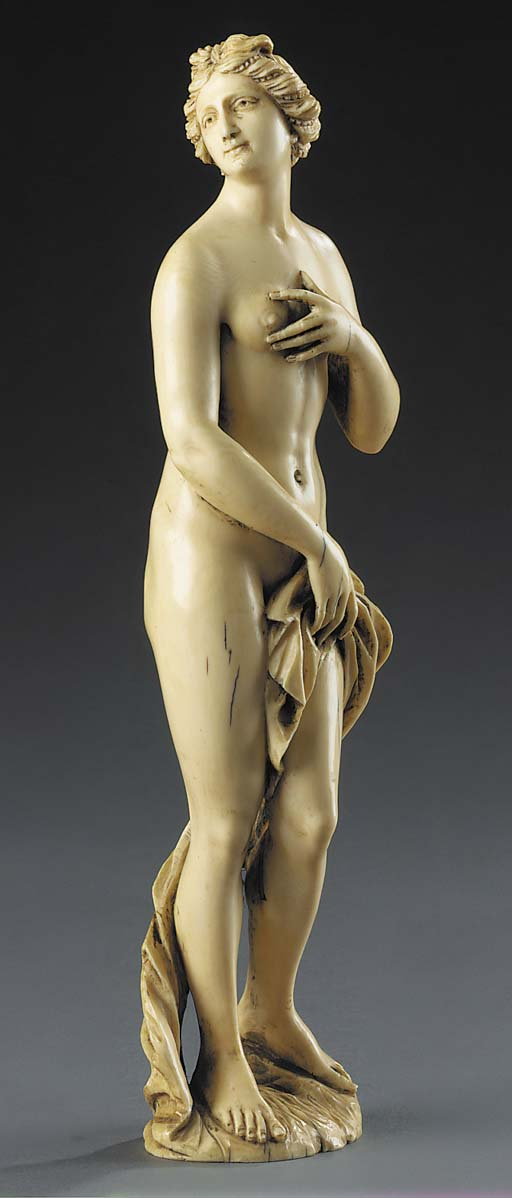 A French carved ivory model of