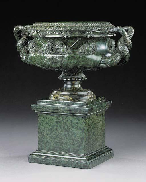 An Italian serpentine marble m