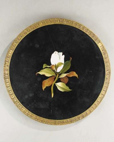 A pietre dure inlaid circular
