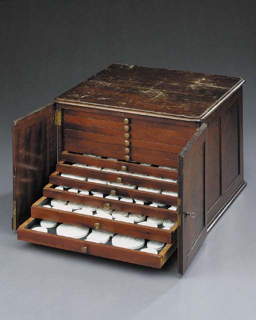 A mahogany cased collection of
