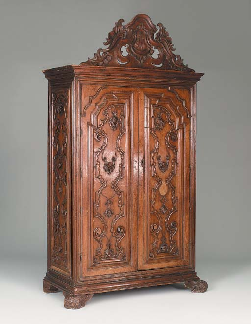 A Spanish Colonial carved waln