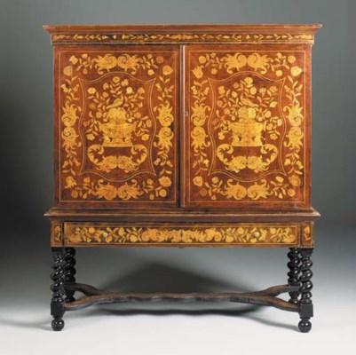 A Dutch mahogany and floral ma