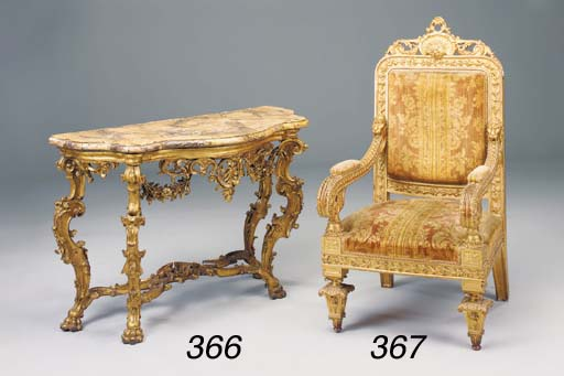 An Italian carved giltwood and