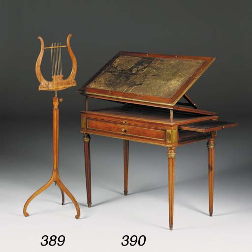 A satinwood, marquetry and bra