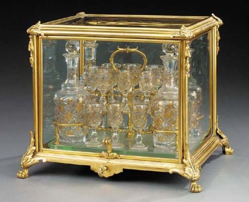 A French gilt bronze and brass
