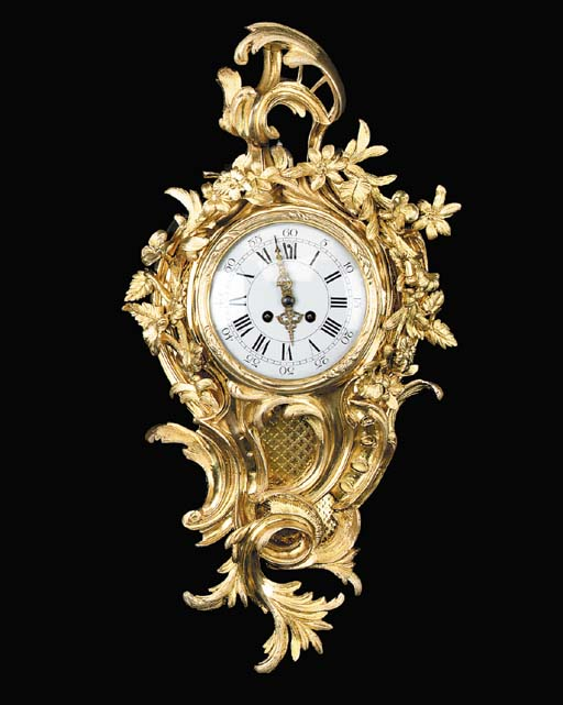 A Louis XV style gilt bronze c